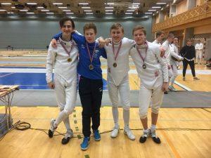 Medaljevinnere U17 gutter